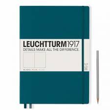LT NOTEBOOK A4+ Slim Hard pacific green 121 p. plain