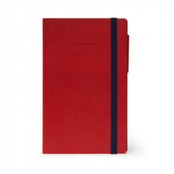 MY NOTEBOOK - DOTTED - RED