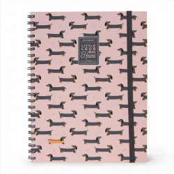 MAXI TRIO - NOTEBOOK WITH SPIRAL - PUPPIES
