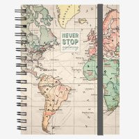 NOTEBOOK WITH SPIRAL - LARGE - TRAVEL
