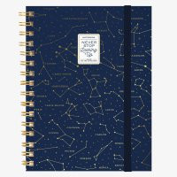 NOTEBOOK WITH SPIRAL - LARGE - STARS