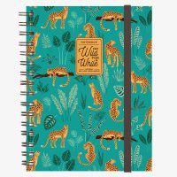 NOTEBOOK WITH SPIRAL - LARGE - CHEETAH