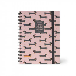 NOTEBOOK WITH SPIRAL - LARGE - PUPPIES