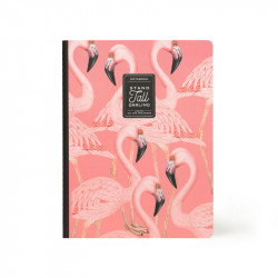 QUADERNO LARGE - LINED - FLAMINGO