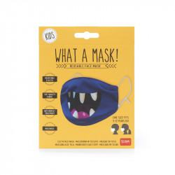 WHAT A MASK! - REUSABLE FACE MASK - KID SIZE - SMILE