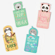 NEVER STOP READING - SET OF MAGNETICBOOKMARKS - ANIMALS