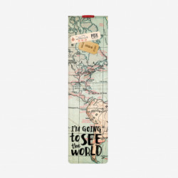 BOOKMARK WITH ELASTIC BAND - MAPS