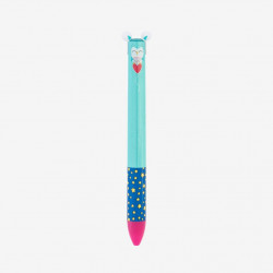 CLICK&CLACK TWO COLOR PEN - OWL