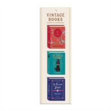 Vintage Books Shaped Magnetic Bookmarks