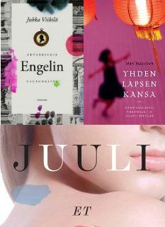 Finlandia-palkitut kirjat 2016 (kolme teosta) Viikilä; Manninen; Niemi