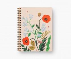 Poppy Botanical Spiral Notebook
